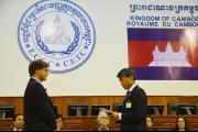 Swearing in of Judge Chang-ho Chung