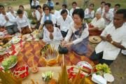 Ceremony for the construction of the guardian spirit house