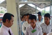 People from 17 different districts in Kampong Cham attend court hearing