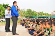 Lecture at Chea Sim Samaki High School (2)