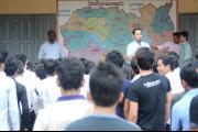 Activité de sensibilisation au lycée d'Anlong Veng