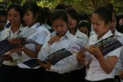Booklet distribution in Kampong Cham (4)