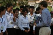 Booklet distribution in Kampong Cham (5)