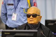 Nuon Chea during Trial Chamber hearing (2)
