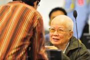 Khieu Sampan during Trial Chamber hearing (4)