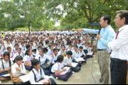 Outreach on Pen Teuk high school