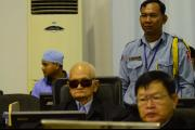 Nuon Chea on the day of the pronouncement of the verdict in case 002/01