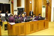 The Co-Prosecutors prepare for the pronouncement of the judgement in Case 002/01