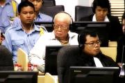 Khieu Samphan during announcement of Case 002 severance