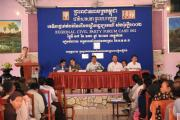 Civil Party Lawyers talked to their clients at the Forum in Kampot