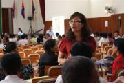 Ms. TY Srinna, Civil Party Lawyer, conducted Group Discussion