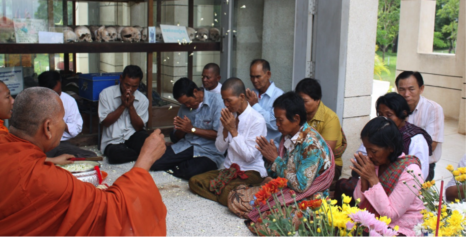 Civil Party Testimonial Therapy at one of the Crime Sites through Buddhist Cermony